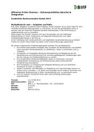 Brandenburg - Frühe Chancen