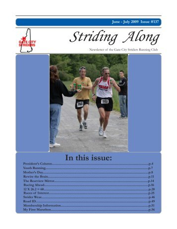 2009 June / July Newsletter - Gate City Striders