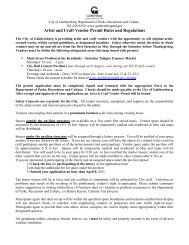 artist and craft vendor permit program - City of Gaithersburg