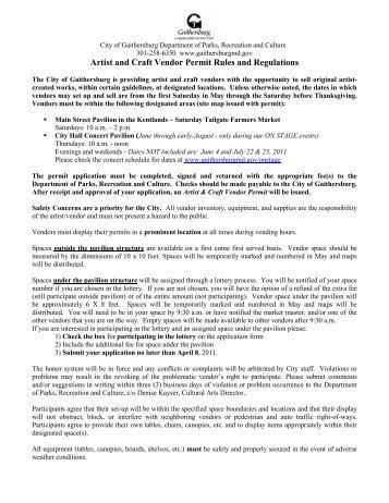 Craft Fair Vendor Permit