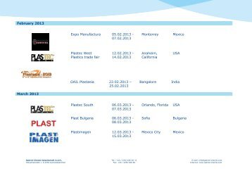 February 2013 Expo Manufactura 05.02.2013 ... - Gabriel Chemie