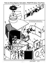 Parts List, Wiring Diagrams, Tech Labels -- PH55/PYPA Series ...