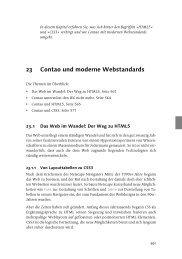 Websites erstellen mit Contao - Galileo Computing
