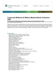Lippincott Williams & Wilkins Medical Book Collection 2007