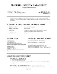 Viscarin® 1280 Carrageenan - FMC Corporation