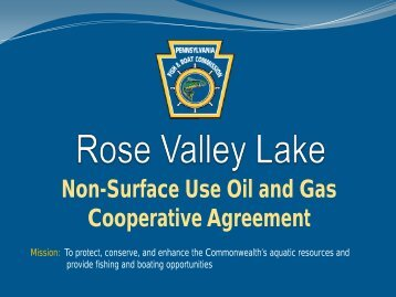 Rose Valley Lake - Pennsylvania Fish and Boat Commission