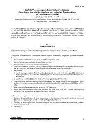 Sechste Verordnung zum Produktsicherheitsgesetz (Verordnung ...