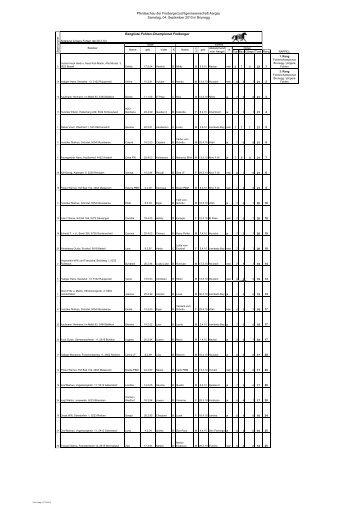 Rangliste 2010 Brunegg Fohlen