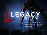 Building a Sustainable Intermediate Light Oil Producer - FirstEnergy ...
