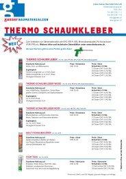 Neu im Sortiment: Thermo Schaumkleber - Gasser Baumaterialien AG