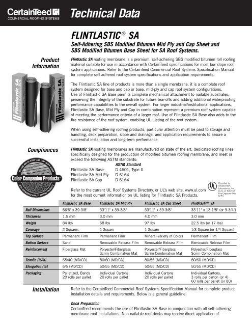 Flintlastic Sa Data Sht Florida Building Code Information System