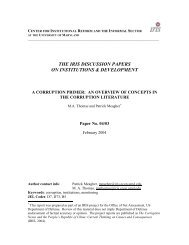 Corruption Primer - Fiscal Reform