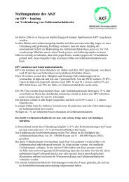 Stellungnahme des AKF