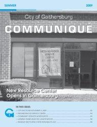 Summer 2009 Edition - City of Gaithersburg