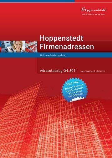 Hoppenstedt Firmenadressen - Firmendatenbank von Hoppenstedt