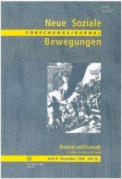 Vollversion (5.41 MB) - Forschungsjournal Soziale Bewegungen