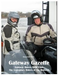 December - Gateway Riders Index