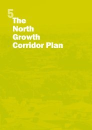 The North Growth Corridor Plan - Growth Areas Authority