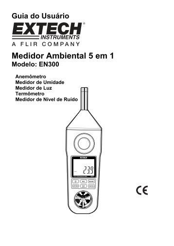 Medidor Ambiental 5 em 1 - Extech Instruments