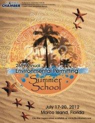 26th Annual Environmental Permitting Summer School Brochure