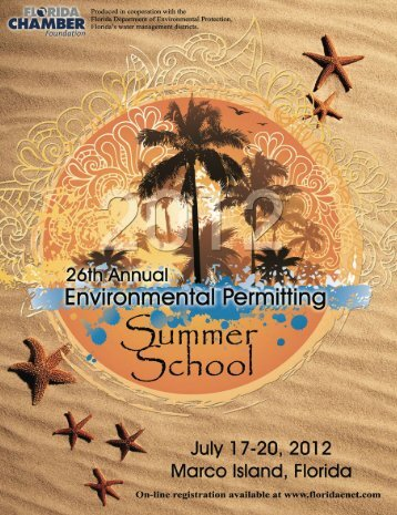 26th Annual Environmental Permitting Summer School Brochure