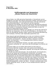 Blinde Flecken der Geschichte - Freya Klier