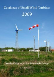 Catalogue of small wind turbines 2009 - Nordic Folkecenter for ...