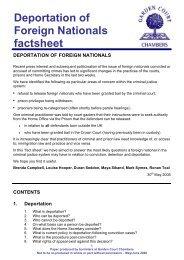 Deportation of Foreign Nationals factsheet - Garden Court Chambers