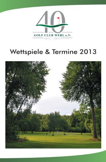 Wettspielkalender 2013.indd - Golfclub Werl