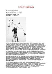 Download Pressedossier PDF (1.7 MB) - Fondation Beyeler
