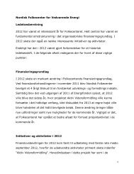 Nordisk Folkecenter for Vedvarende Energi Ledelsesberetning 2012 ...