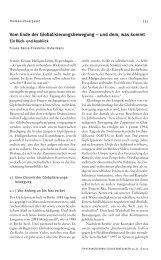 Vom Ende der Globalisierungsbewegung - Forschungsjournal ...