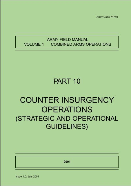 AFM Vol 1 Pt 10 Counter Insurgency Operations - The Free