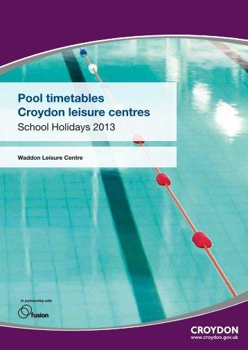 Pool timetables Croydon leisure centres - Fusion Lifestyle