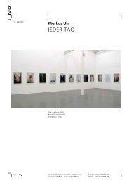 JEDER TAG - Galerie b2