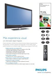 42PFL5522D/12 Philips Flat TV panorámico con Pixel ... - FONYTEL