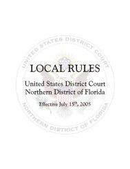 Local Rules - Northern District of Florida - the Northern District of ...