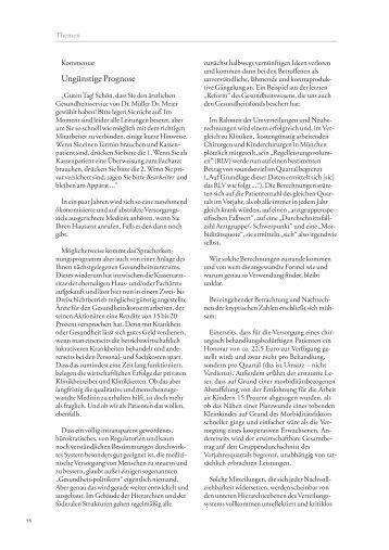 Kommentar dazu: Ungünstige Prognose - Die Gazette