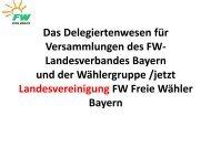 Landesvereinigung - Freie Wähler Bayern