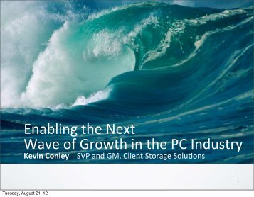 Enabling the Next Wave of Growth in the PC Industry