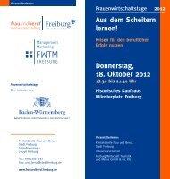 Donnerstag, 18. Oktober 2012 - Kontaktstelle Frau und Beruf