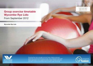Group exercise timetable Wycombe Rye Lido - Fusion Lifestyle
