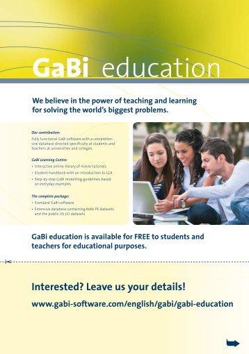 GaBi education - GaBi Software