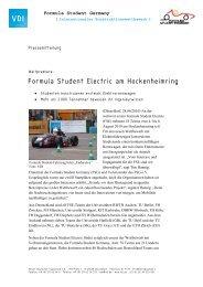 Formula Student Electric am Hockenheimring