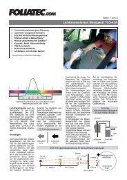 Lichttransmission Messgerät TLG-43A - Foliatec