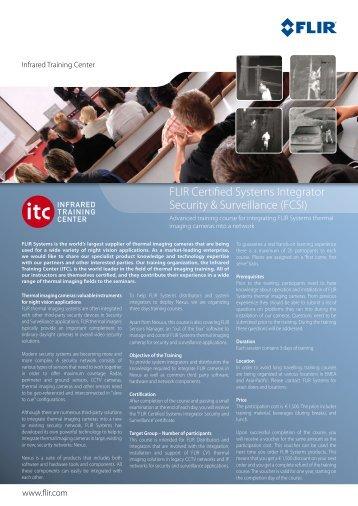 FLIR Certified Systems Integrator Security & Surveillance (FCSI)