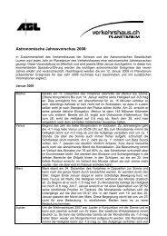 Astronomische Jahresvorschau 2008: - Astronomische Gesellschaft ...