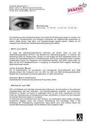 Workshops - Deutscher Frauenrat