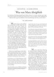 Was von Marx übrigblieb - Die Gazette