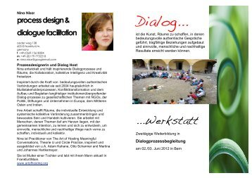 process design & dialogue facilitation